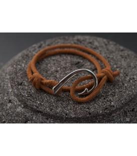 Кожаный браслет с якорем Кусто Ромны