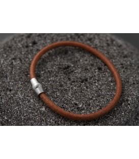 Кожаный тонкий браслет на магните Кусто Токмак в 3-х цветах