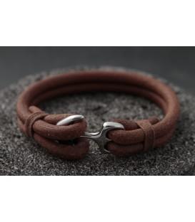 Кожаный браслет с якорем Кусто Устилуг