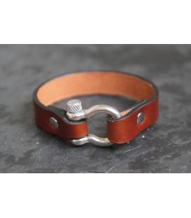 Кожаный браслет Кусто Стельвио