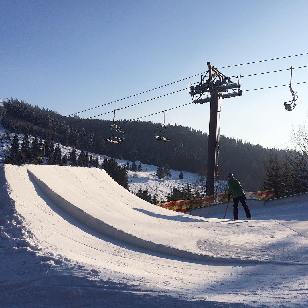 Сноуборд парк на Буковели